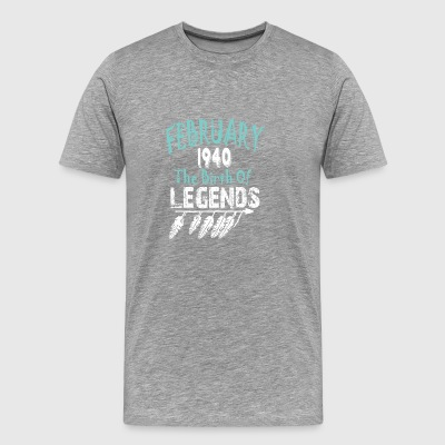 Februari 1940 The Birth Of Legends - Mannen Premium T-shirt