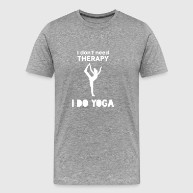 Yoga Fitness Sports Therapy Gift van de Veteraan - Mannen Premium T-shirt