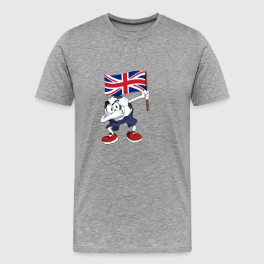 United Kingdom Dabbing football - Men's Premium T-Shirt