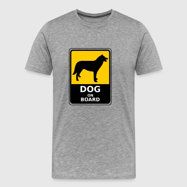 Dog on Board - Premium T-skjorte for menn