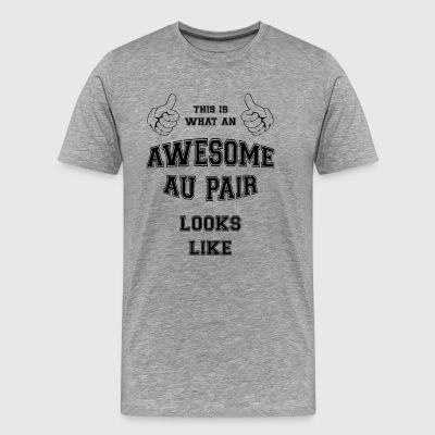 AWESOME AU PAIR - Mannen Premium T-shirt