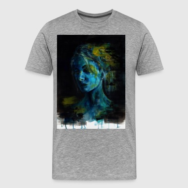 Blue portrait - Men's Premium T-Shirt