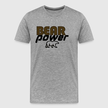 bearpower - Premium T-skjorte for menn