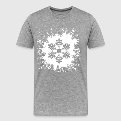 Ice Crystal Snowflake Snowflake Splash - Men's Premium T-Shirt