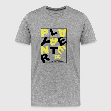 Play and Enter yellow - Männer Premium T-Shirt