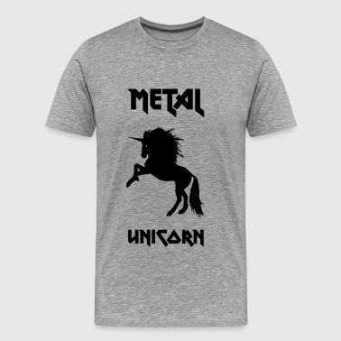 metall Unicorn - Premium-T-shirt herr