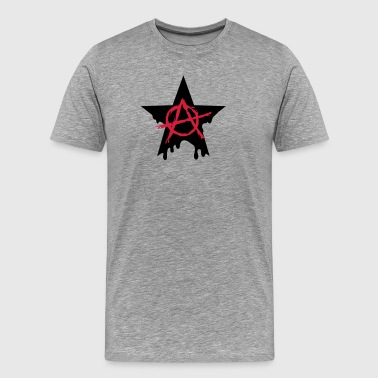 Anarchy star chaos symbol rebel revolution punk - Men's Premium T-Shirt