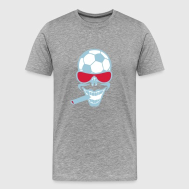 football soccer sourire cigard lunette t - T-shirt Premium Homme