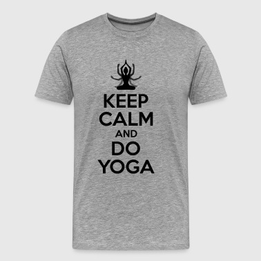 Keep calm and yoga - yoga witzig - Männer Premium T-Shirt