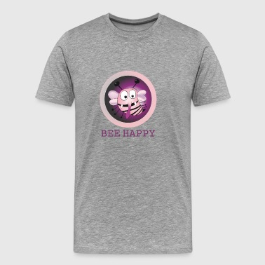 bee happy pink - Männer Premium T-Shirt
