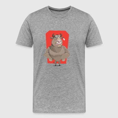 Bull with ring through the nose - Men's Premium T-Shirt