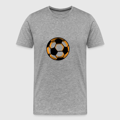 Orange fotboll - Premium-T-shirt herr