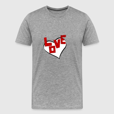 written love puzzle - Men's Premium T-Shirt