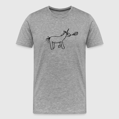 TRASH - Unicorn - Hello - Männer Premium T-Shirt