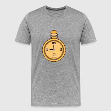 Pocket watch | Golden Clock | Time | Time | pointer - Men's Premium T-Shirt