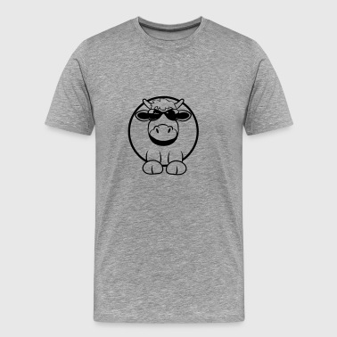Cow funny animal sunglasses - Men's Premium T-Shirt