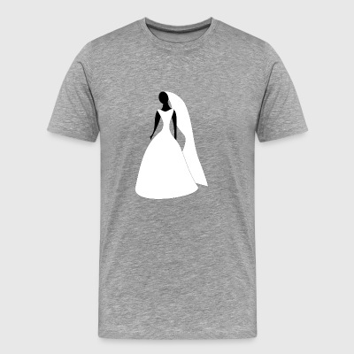 Women wedding dress - Men's Premium T-Shirt