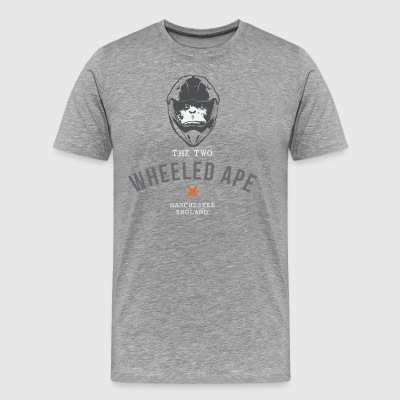 Two Wheeled Ape Biker T-shirt Black - Men's Premium T-Shirt