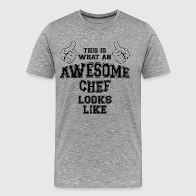 This is what an awesome chef looks like Gifts - Men's Premium T-Shirt