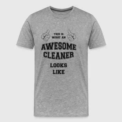 AWESOME CLEANER - Miesten premium t-paita