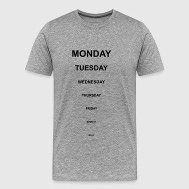 Short weekdays - Men's Premium T-Shirt