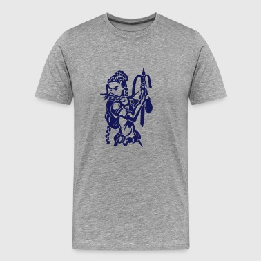 Elf robber with crossbow and dagger fantasy MMORPG - Men's Premium T-Shirt