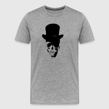 Skull with cylinder hat - Men's Premium T-Shirt