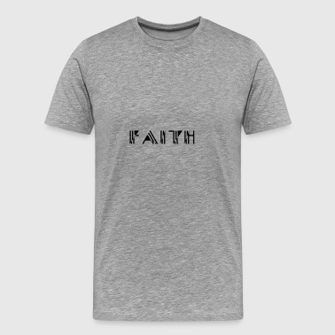 Faith Strich Stil - Männer Premium T-Shirt
