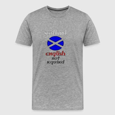 scotland english not re - Men's Premium T-Shirt