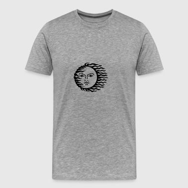sun face - Men's Premium T-Shirt