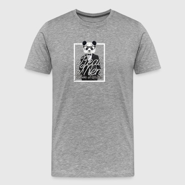 Real Men Love Pandas Cool Panda Bär Design Motiv - Männer Premium T-Shirt