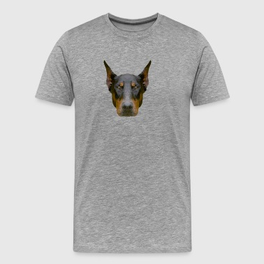 Doberman - Premium T-skjorte for menn