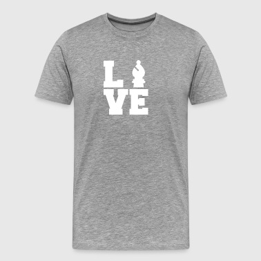 Chess / schackbräde: Love Chess - Premium-T-shirt herr