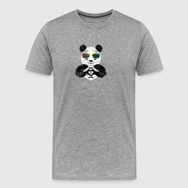 Cooler LGBT Panda lunettes Rainbow Love Is Love - T-shirt Premium Homme