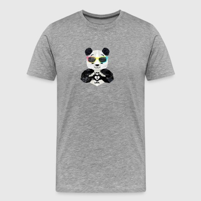 Cool LGBT Panda rainbow glasses Love Is Love - Men's Premium T-Shirt