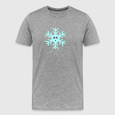 neige Smiley - T-shirt Premium Homme