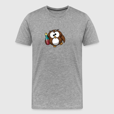 Owl cartoon 20 - Men's Premium T-Shirt