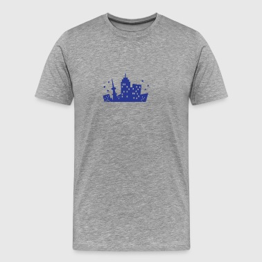 A City Skyline - T-shirt Premium Homme