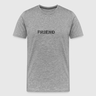 Friend lettering black - Men's Premium T-Shirt