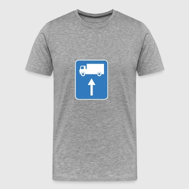 Road sign up camion - T-shirt Premium Homme