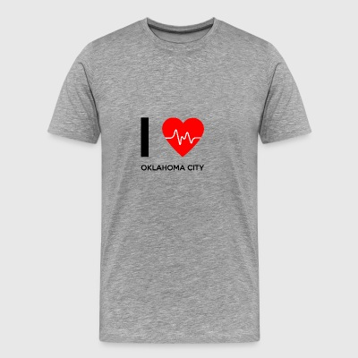 I Love Oklahoma City - I Love Oklahoma City - Men's Premium T-Shirt