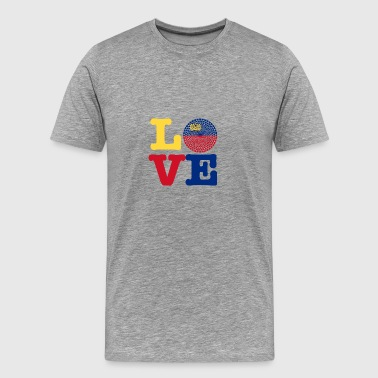 LIECHTENSTEIN HEART - Men's Premium T-Shirt