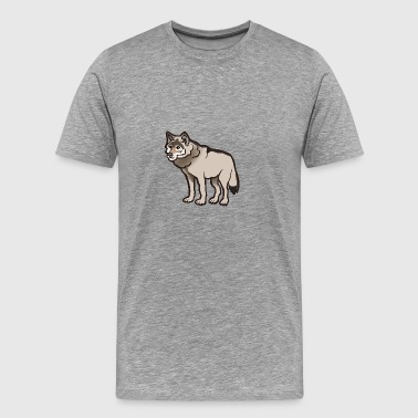 Sad and lonely wolf - Men's Premium T-Shirt