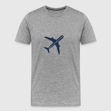 Pilot: Born to fly, force to work. - Männer Premium T-Shirt