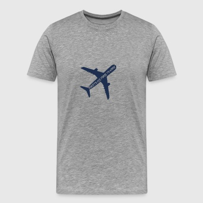 Pilot: Born to fly, force to work. - Men's Premium T-Shirt