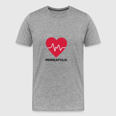 coeur Minneapolis - T-shirt Premium Homme