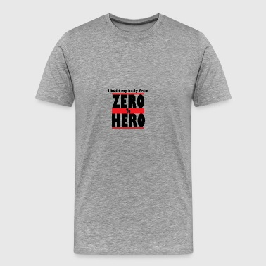 Zero To Hero - Herre premium T-shirt
