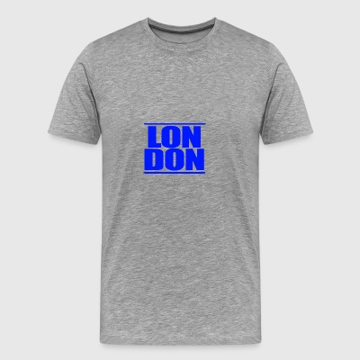 LON DON Logo Blue - Premium-T-shirt herr