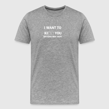 I want to kiss - Men's Premium T-Shirt