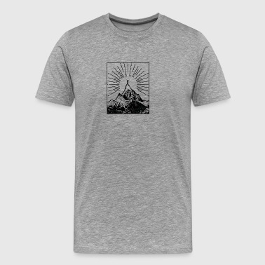 Mountain - Premium T-skjorte for menn